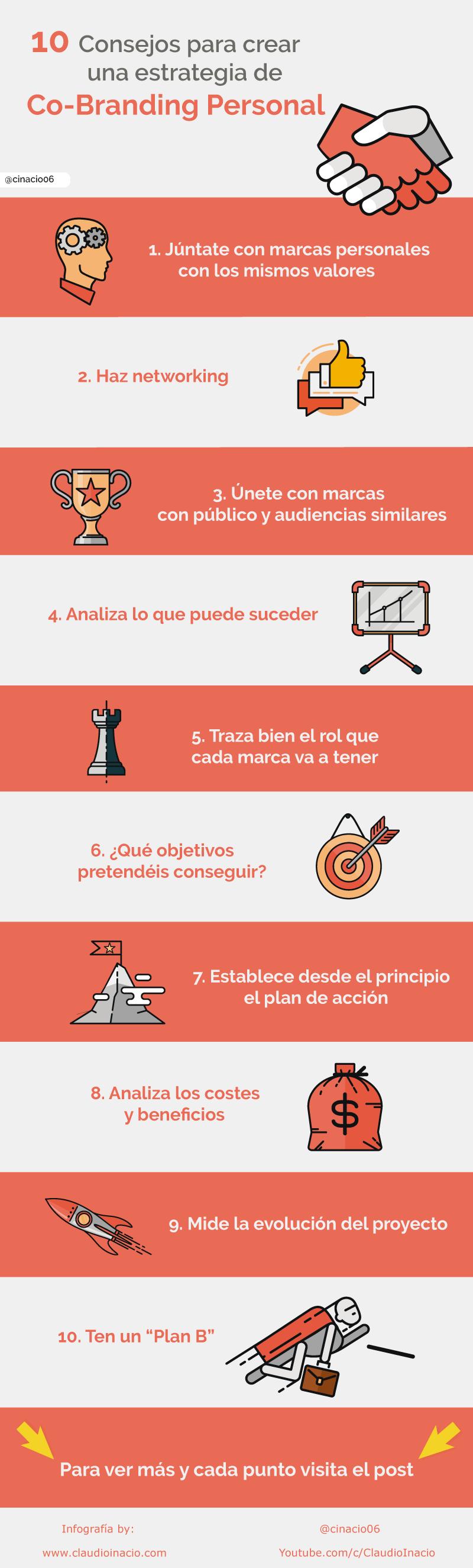 infografia pasos para crear co-branding personal