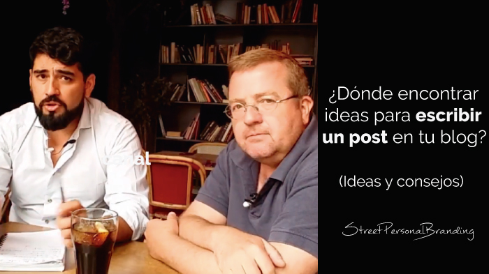 dónde encontrar ideas para escribir un post